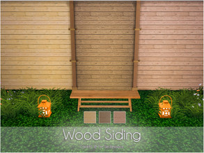 Sims 4 — Wood Siding  by Caroll912 — 3 recolours of realistic wood panel siding. Dark and bright colours design, suitable