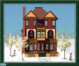 Sims 2 — Winter Village Toy Shop by Pinecat — DESIGNED AS A FAMILY OPERATED HOME BUSINESS 1st floor includes Toy Shop,