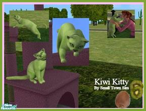 Sims 2 — Kiwi Kitty by Small Town Sim — A beautiful shade of green-Kiwi Kitty will bring energy as well as color to your