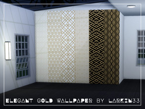 Sims 4 — Elegant Gold Wallpaper by Larkin33 — This elegant wallpaper is a contemporary, geometrical take on art deco and