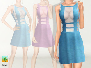 Sims 3 — Sheer Mini by pizazz — Great party dress with sheer accents. Sure to turn heads. Set for formal, career, and
