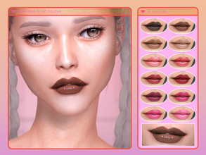 Sims 4 — [ Precision ] - Lip Colour by Screaming_Mustard — A pigmented, detailed, super glossy lip colour. For females,