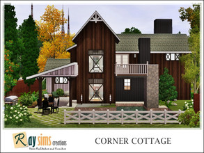 Sims 3 — Corner Cottage by Ray_Sims — This house has 3 bedrooms, and 3 bathrooms. I really hope you guys like it.. Thank