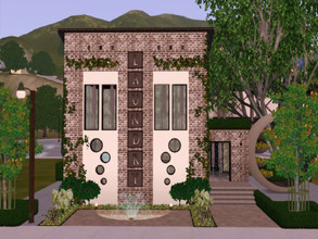 Sims 3 — Bubbles Laundry  by Jujubee77 — Eco friendly laundrymat for the sophisticated urban Sim. Washers and dryers,