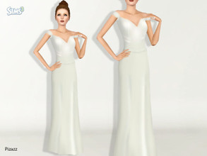 Sims 3 — Florance Gown by pizazz — Set up for Formal, Career, everyday, make over and Bridle. Special thanks to Ekinege
