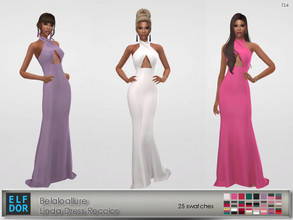 Sims 4 — Belaloallure Linda Dress Recolor by Elfdor — It s a standalone recolor of Belaloallure dress and you will need