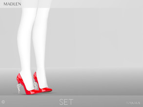 Sims 4 — Madlen Set Shoes by MJ95 — Mesh modifying: Not allowed. Recolouring: Allowed (Please add original link in the