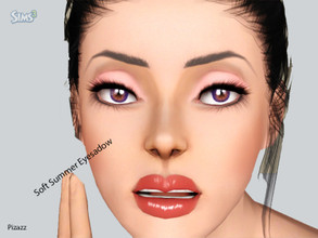 Sims 3 — Soft Summer Eyeshadow by pizazz — Eyeshadow has 4 channels. Colors in image shows these channels Please do not