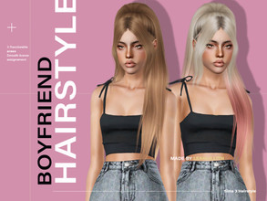Sims 3 — LeahLillith Boyfriend Hair by Leah_Lillith — Boyfriend Hair All LODs Smooth Bones hope you will enjoy^^