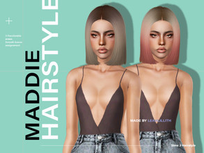Sims 3 — LeahLillith Maddie Hair by Leah_Lillith — Maddie Hair All LODs Smooth bones Custom CAS thumbnail hope you will