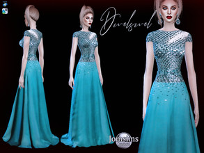 Sims 4 — Dwelswel dress by jomsims — Dwelswel dress haute couture designer dress, in one shade, to respect the original