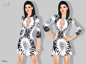 Sims 3 — Cocktail Dress v-03 by pizazz — NOTE: Pattern on dress in image not included. Party dress set for everyday,
