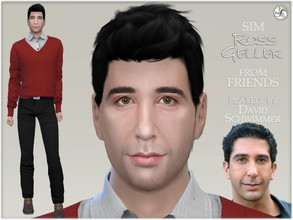 Sims 4 — FRIENDS - Ross Geller by BAkalia — Here it is the last character from series FRIENDS - my version Ross Geller!