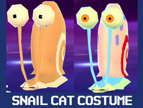 Sims 4 — Cat Costume - Gary the Snail with extra recolor by IndigoMoon3 — This requires the cats and dogs expansion. The
