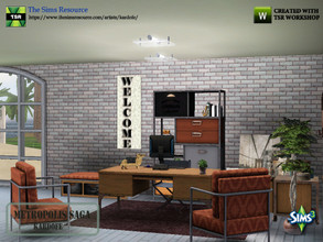 Sims 3 — kardofe_Metropolis Saga by kardofe — Industrial style studio, with table, chair, side table, bookcase, bench,