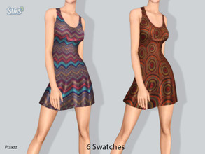 Sims 3 — Pattern Dress Collection by pizazz — Pattern Dress Collection. Fun and playful 6 pattern swatches to choose from