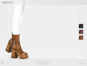 Sims 4 — Madlen Isabis Boots by MJ95 — Mesh modifying: Not allowed. Recolouring: Allowed (Please add original link in the