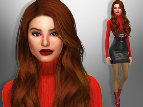 Sims 4 — Cheryl Blossom by divaka45 — Look at the creator`s notes for the custom content which I have used. DOWNLOAD