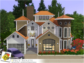 Sims 3 — Spect Rolite by Onyxium — On the first floor: Living Room | Dining Room | Kitchen | Bathroom | Garage On the
