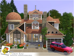 Sims 3 — Pukh Raj by Onyxium — On the first floor: Living Room | Dining Room | Kitchen | Bathroom | Garage On the second