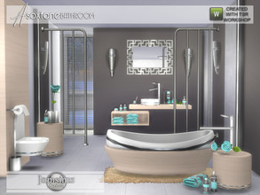 Sims 4 — Asoxtane bathroom by jomsims — Asoxtane bathroom for your Sims . A new modern bathroom with part 2 products. in