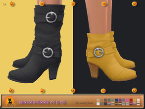 Sims 4 — Seasons Boots Long & Short by Elfdor — - 25 swatches - new mesh all LODs - everyday, formal, party - teen to