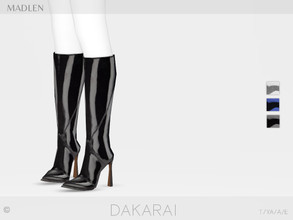 Sims 4 — Madlen Dakarai Boots by MJ95 — Mesh modifying: Not allowed. Recolouring: Allowed (Please add original link in
