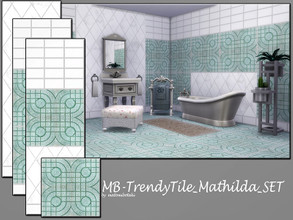 Sims 4 — MB-TrendyTile_Mathilda_SET by matomibotaki — MB-TrendyTile_Mathilda_SET, elegant tile wall and floor set with