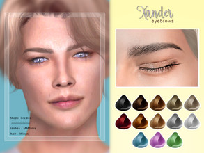 Sims 4 — [ Xander ] - Male Brows by Screaming_Mustard — New eyebrows for Sims. For males, toddler +. With custom thumb