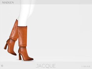 Sims 4 — Madlen Jacque Boots by MJ95 — Mesh modifying: Not allowed. Recolouring: Allowed (Please add original link in the