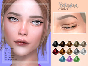 Sims 4 — [Catarina] - Female Brows by Screaming_Mustard — New eyebrows for Sims. For females, toddler +. With custom