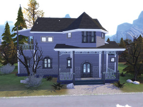 Sims 4 — Vampire family home by bettoncka2 — A simple house for a small vampire family. 2 bedrooms, 2 bathrooms