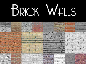 Sims 4 — Brick Walls by modelsims4 — Brick Walls - 80 swatches! - Made with Sims4Studio and Adobe Photoshop - All wall