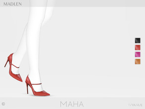 Sims 4 — Madlen Maha Shoes by MJ95 — Mesh modifying: Not allowed. Recolouring: Allowed (Please add original link in the