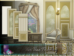 Sims 4 — Two Tone Paneling by Emerald — Add distinguishing feature accents to your rooms with two tone paneling.