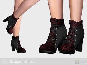 Sims 3 — Dragon shoes by Shushilda2 — - New mesh - 4 recolorable channels - CAS and Launcher icons - HQ-texture