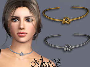Sims 3 — NataliS TS3 Single knot choker by Natalis — Single knot choker. FT-FA-YA