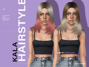 Sims 3 — LeahLillith Kala Hairstyle by Leah_Lillith — Kala Hairstyle All LODs Smooth bones Custom CAS thumbnail hope you