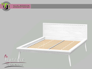 Sims 3 — Allie Bedroom - Bedframe by NynaeveDesign — Allie Bedroom - Bedframe Located in: Comfort - Beds Price: 1057