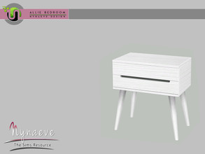 Sims 3 — Allie Bedroom - Nightstand by NynaeveDesign — Allie Bedroom - Nightstand Located in: Surfaces - End Tables