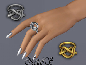 Sims 3 — NataliS TS3 Single knot ring by Natalis — Single knot ring for the left hand. FT-FE