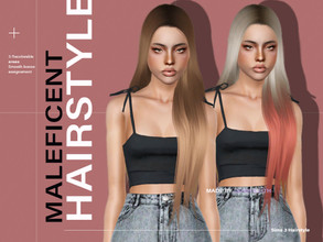 Sims 3 — LeahLillith Maleficent Hair by Leah_Lillith — Maleficent Hair All LODs Smooth Bones Custom CAS thumbnail