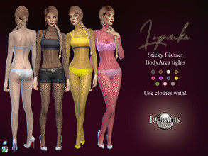 Sims 4 — Lopinka sticky fishnet body by jomsims — Lopinka sticky fishnet body in the women's tights category. Weaves for