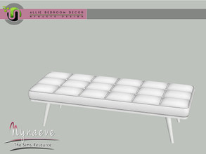 Sims 3 — Allie Bedroom - Bench by NynaeveDesign — Allie Bedroom - Bench Located in: Comfort - Loveseats Price: 570 Tiles: