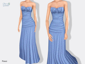 Sims 3 — Evening Gown v-101 by pizazz — Created for: The Sims 3 A beautiful and elegant dress that can be worn for