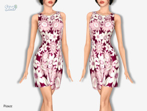 Sims 3 — Adult Pattern Dress by pizazz — 3 patterns to choose from. Base Game Only You may use any of my creations on