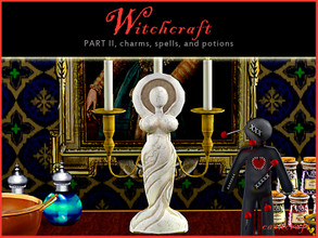 Sims 3 — Witchcraft Magical Goddess Statue by Cashcraft — The pagan spring goddess statue represents the collective power