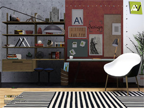 Sims 3 — Fordham Office by ArtVitalex — - Fordham Office - ArtVitalex@TSR, Nov 2019 - All objects are recolorable -