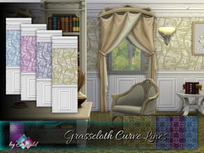 Sims 4 — Grasscloth Curve Lines by Emerald — Grass-cloth can add a refined look to any room. It gives the walls a texture