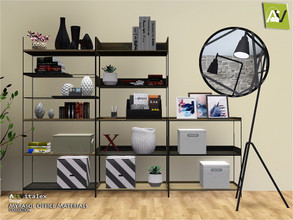 Sims 3 — Myrasol Office Materials by ArtVitalex — - Myrasol Office Materials - ArtVitalex@TSR, Nov 2019 - All objects are